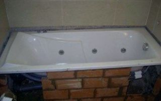 Установка ванны на кирпич правильно и надежно