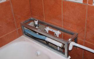 Как спрятать трубы в ванной комнате самостоятельно