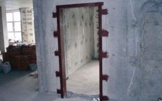 Усиление проема уголком, проем в несущей стене панельного дома