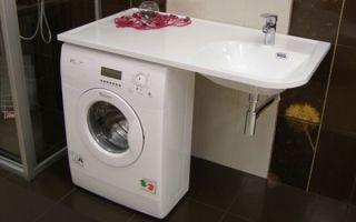 Раковины над стиральной машиной – экономия пространства комнаты