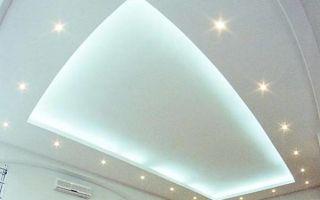 Подвесной потолок из гипсокартона