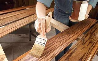 Возможные методы обработки древесной поверхности