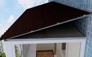 Как сделать крышу на балконе последнего этажа своими руками – фото установки