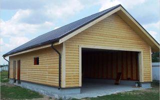 Cтроим двухскатную крышу гаража
