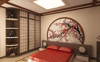 Японский стиль в спальне. Интерьер комнаты