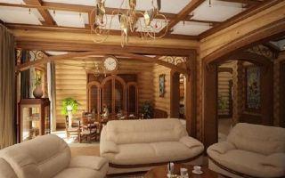 Оформление дизайна загородного дома