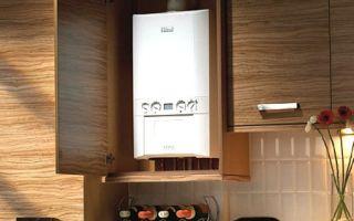 Как спрятать на кухне газовый котёл?