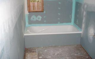 Варианты использования влагостойкого гипсокартона для отделки ванной комнаты