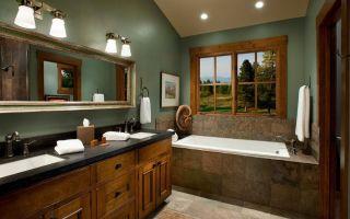 Стиль «кантри» в ванной комнате