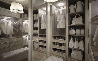 Дизайн гардербной комнаты