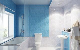 Установка панелей ПВХ в ванную комнату