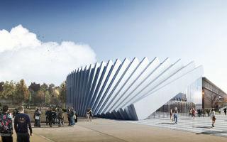 Проект нового здания под учебные корпуса в Айзенберге