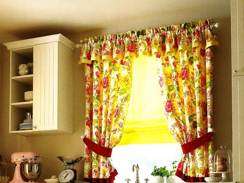 цветные ситцевые шторы