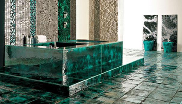 Керамическая плитка на бетонной ванне