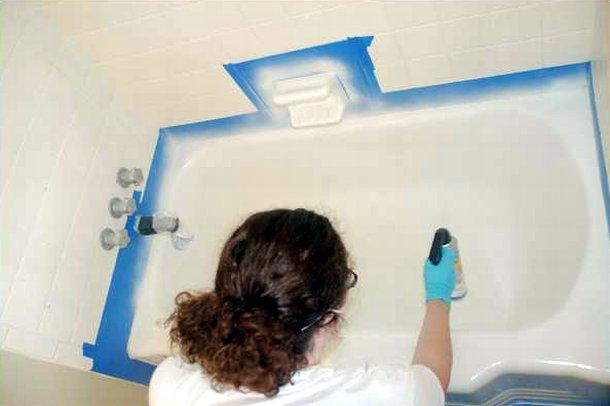 Покраска ванны эмалью из баллончика