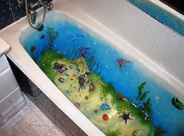 Декорирование внутренних поверхностей ванн