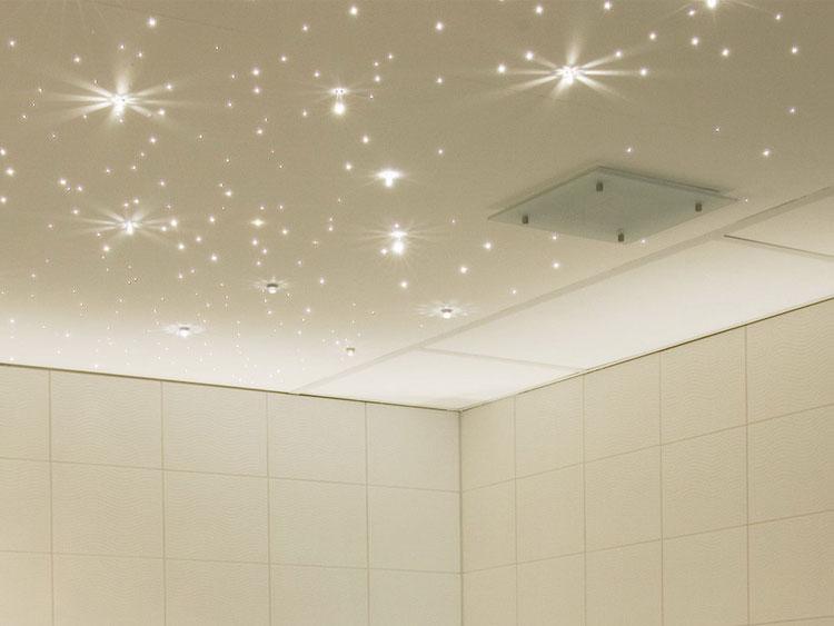 потолок в ванной монтаж
