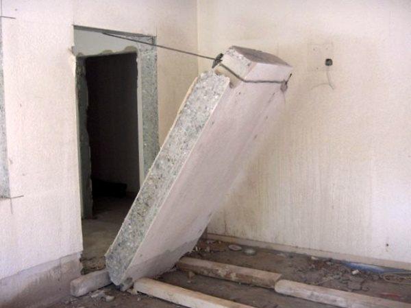Способы усиления проема в бетонной стене