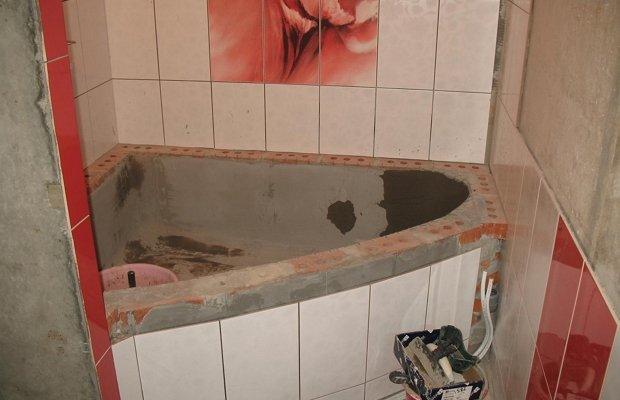 бетонная ванна угловая