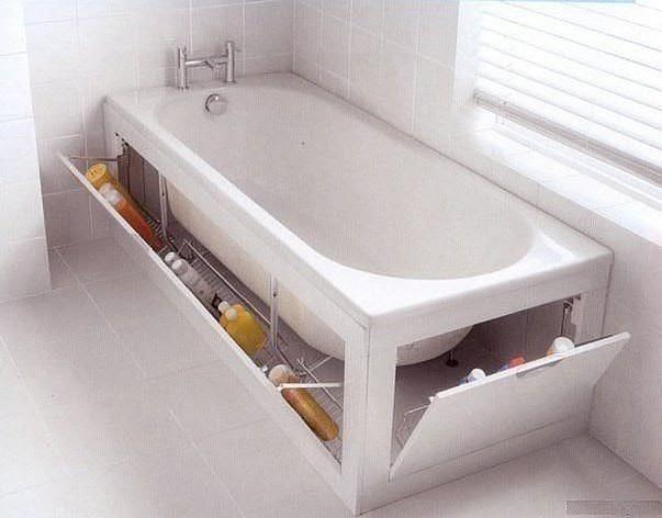ванна закрытая экранами