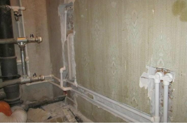 Разводка труб в ванной комнате