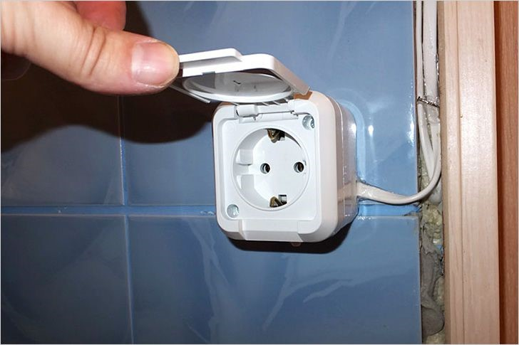 Размещение электрической проводки в ванной