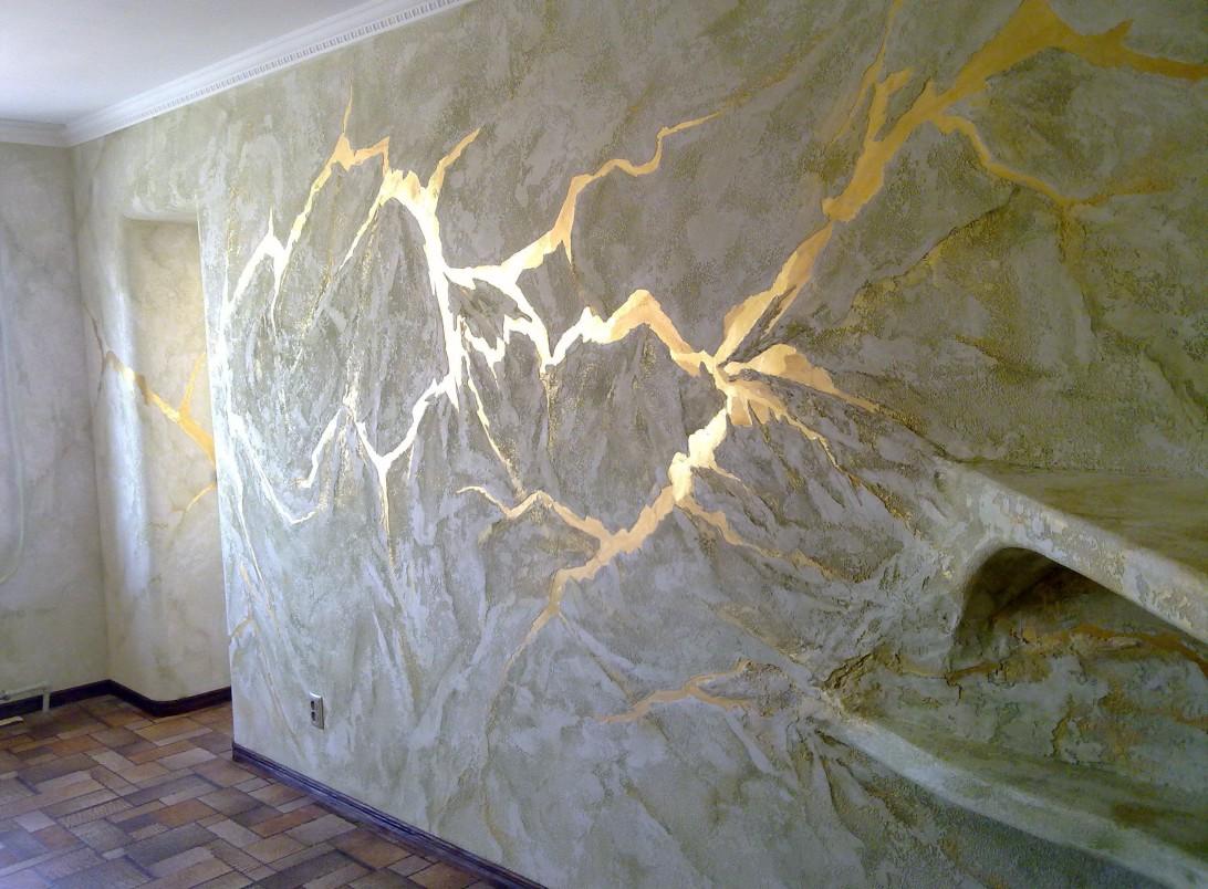 Декоративная окраска стен