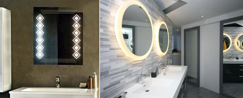встроенные зеркала для ванны