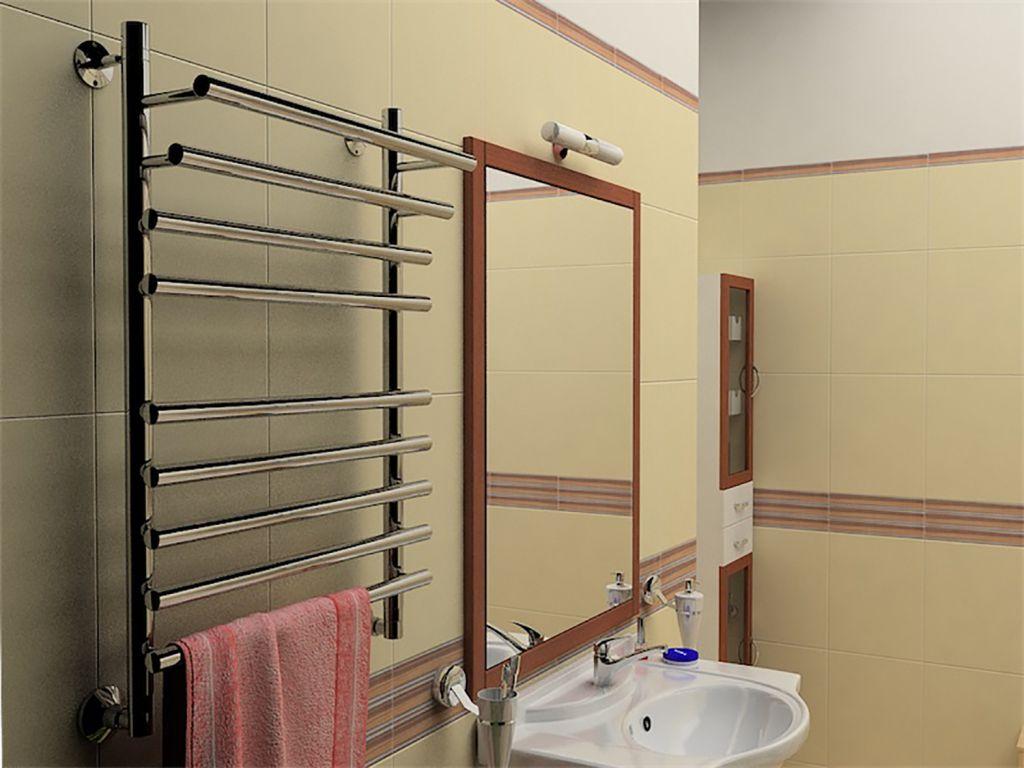 Водяные полотенцесушители в ванной
