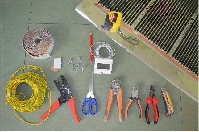 инструменты для монтажа теплого пола