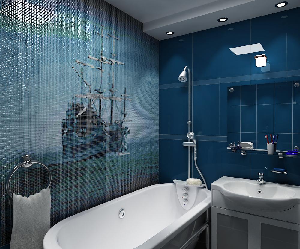 панно из мозаики в ванной