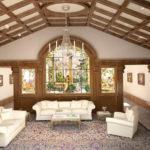 Декоративная отделка потолка в деревянном доме