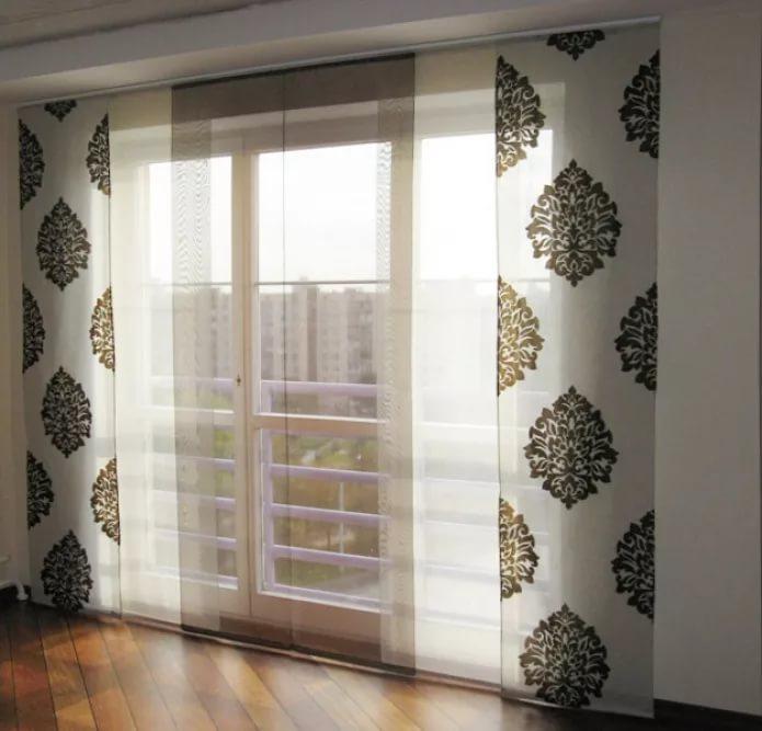 Японские шторы для балкона
