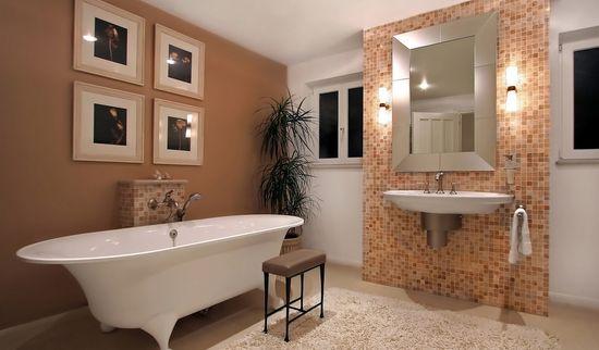 Штукатурка ванной комнаты под плитку