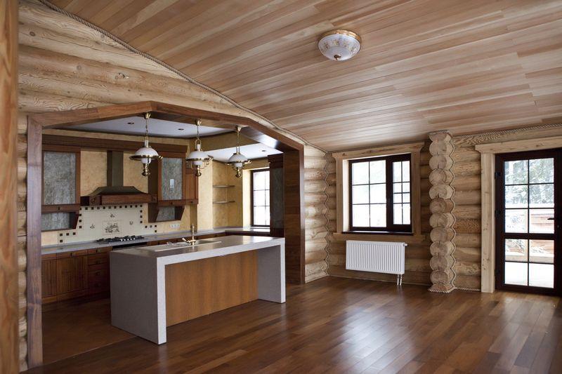 дом из бревен внутренняя отделка