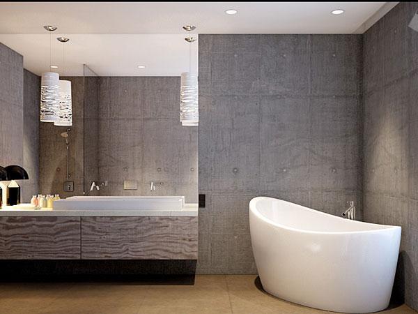Керамогранит в интерьере ванной