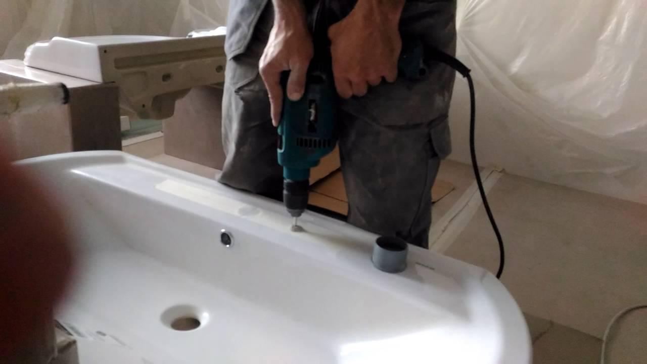 как самостоятельно установить смеситель на борт акриловой ванны