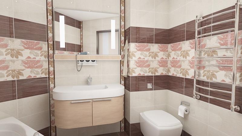 средняя плитка для ванны