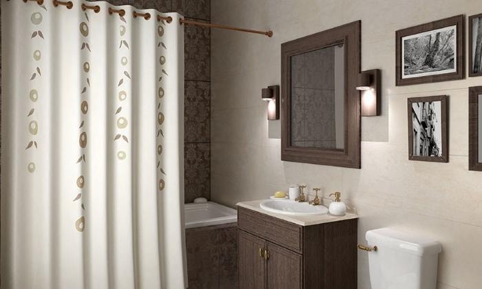 Как повесить занавеску в ванной1