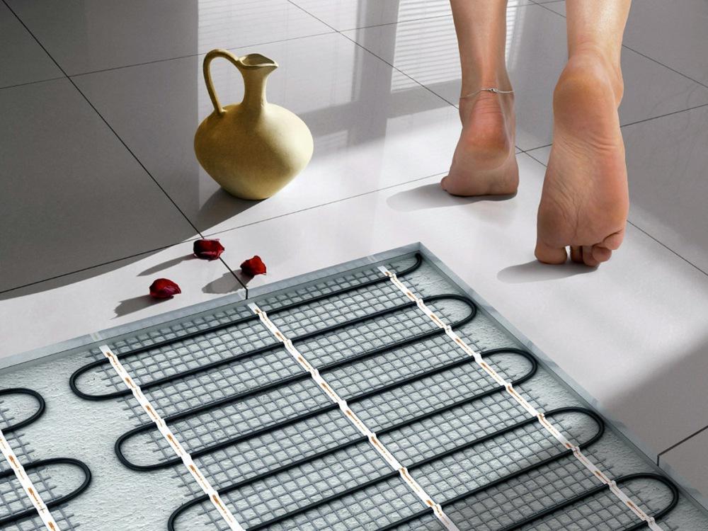 Кабельный пол в ванной