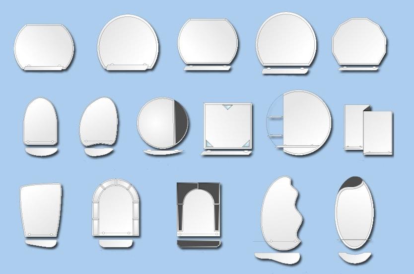 формы зеркал для ванной