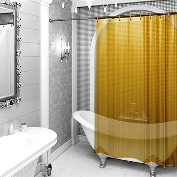 Вешаем шторку в ванной: 5 интересных решений новые фото