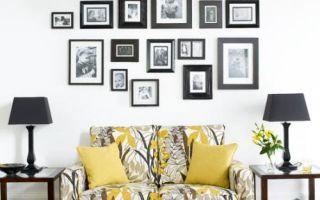 Несколько правил грамотного и правильно расположения картин на стенах