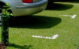 Защита газона газонной решеткой