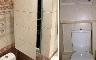 Монтаж короба из влагостойкого гипсокартона в ванной комнате
