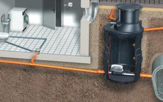Применение санинасосов для отвода сточных вод