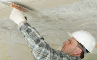 Сухая технология выравнивания потолка