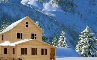 Преимущества строительства деревянного дома в зимний период