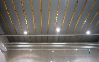Пластиковый потолок в ванной: крепление и монтаж