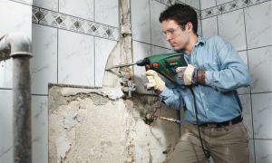 Как отбить старую плитку в ванной комнате
